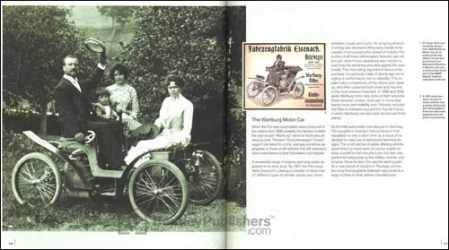 (Left) Dr. Eugen Gotz and his family aboard their 1899 Wartburg Motor Car, on an outing in the Isar Valley. The car was purchased from Beissbarth Brothers in Munich, and now, a century later, forms part of the BMW  Mobile Tradition collection in the city.