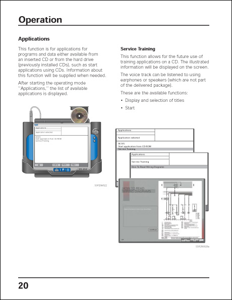 Audi VAS 5052 Design and Function Technical Service Training Self-Study Program Operation