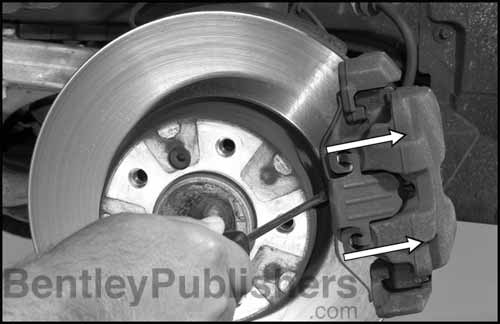 Detailed brake pad and rotor service