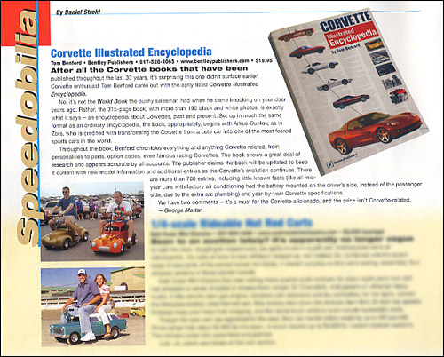 Review of Corvette Illustrated Encyclopedia from Hemmings Muscle Machines - January 2005