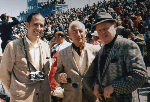 Karl Ludvigsen with Corvette creators Zora Arkus-Duntov and Bill Mitchell