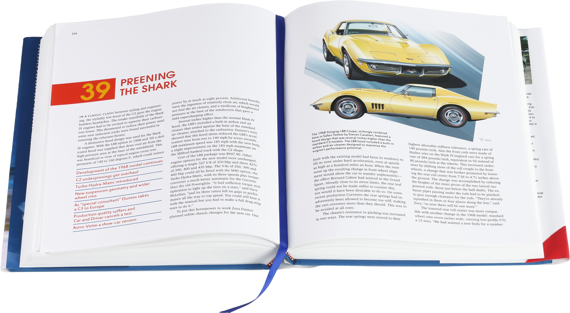 Sample page spread from Corvette - America's Star-Spangled Sports Car.