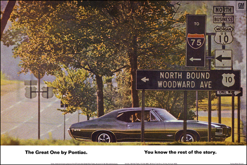The infamous Woodward Avenue ad.