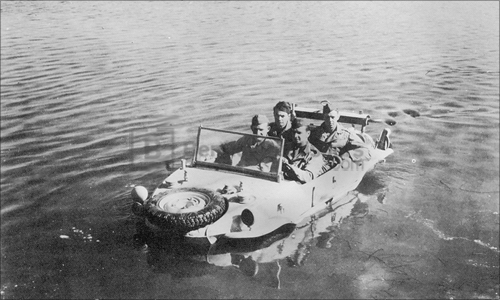 Testing a captured Schwimmwagen at the General Motors Proving Ground