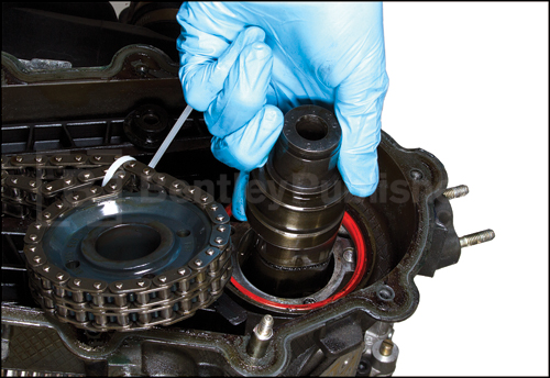 Detailed internal engine repair information, such as camshaft removal and installation.