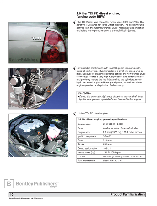 Page 10 from Passat Familiarization section.