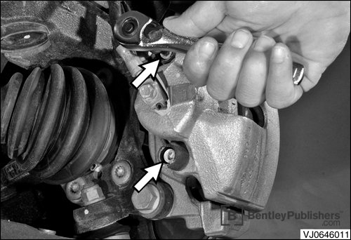 Detailed brake pad and rotor service procedure.