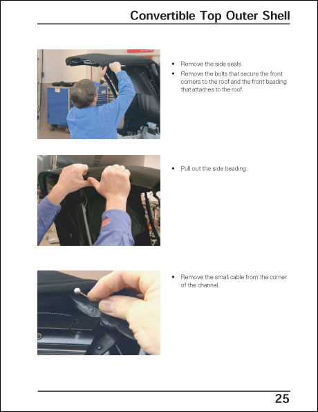 Volkswagen New Beetle Convertible Top and Window Repair Technical Service Training Self-Study Program Door Convertible Top Outer Shell