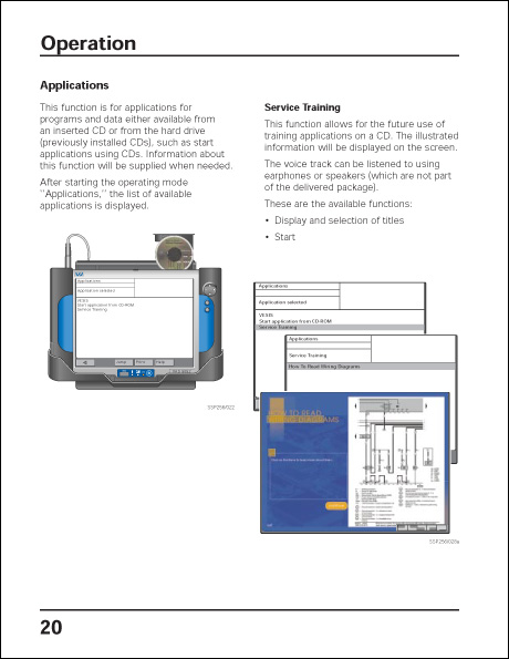 Volkswagen VAS 5052 Design and Function Technical Service Training Self-Study Program Operation
