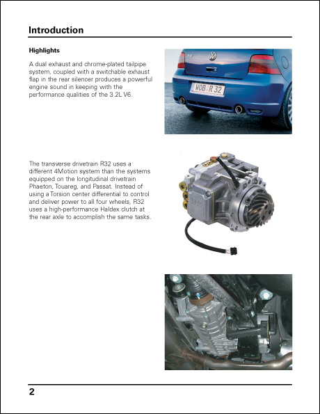 Volkswagen R32 Technical Service Training Self-Study Program Highlights
