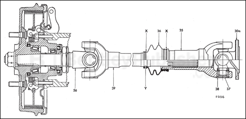 Outer axle shaft and hub assembly, page 213
