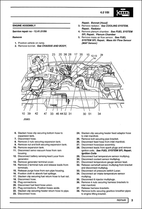 excerpt land rover land rover repair manual discovery 1995 1998 bentley publishers