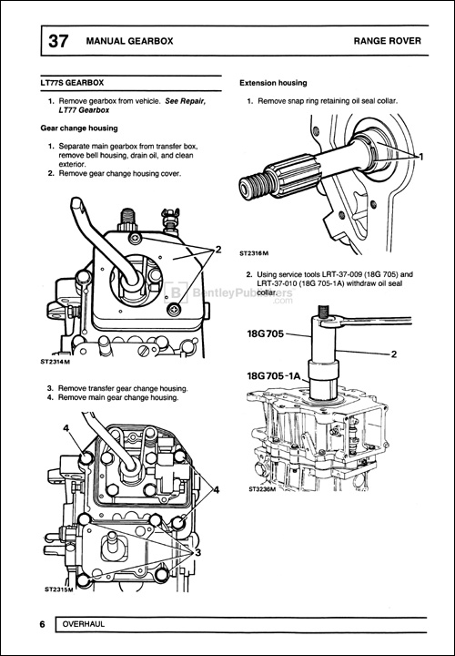Range Rover Official Workshop Manual: 1990-1994 LT77S Manual Gearbox Overhaul