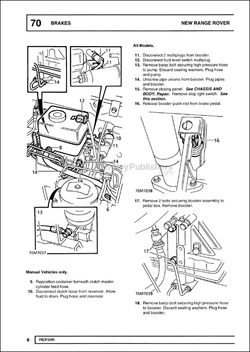 Range Rover Official Workshop Manual: 1995-2001 ABS Brakes Repair