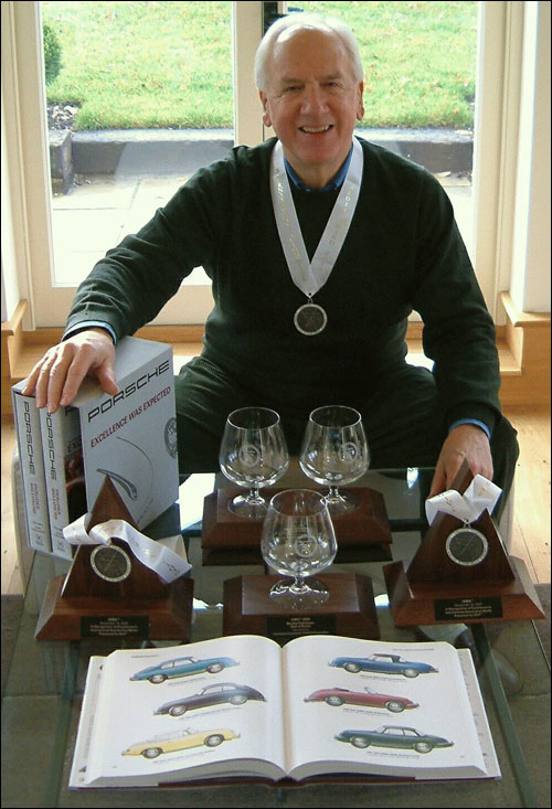 Karl Ludvigsen and his International Automotive Media Awards.