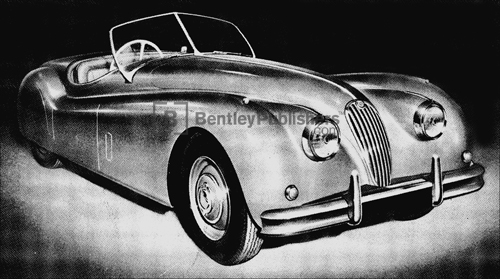 Jaguar XK 140 Open 2 Seater (Roadster) Excerpted from Jaguar XK 140 Driver's Handbook: 1954-1957, page iii.