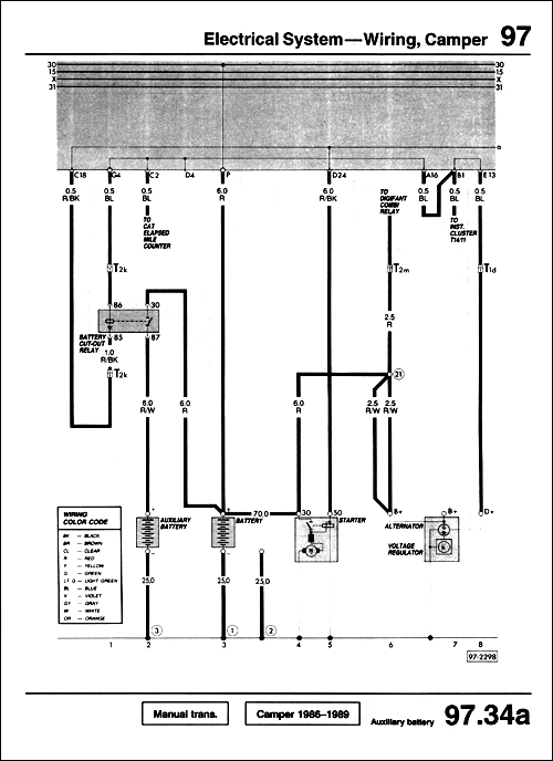 bentley vv91 wiring diagram 500 gallery vw volkswagen vanagon repair manual 1980 1991 VW Wiring Harness Diagram at edmiracle.co