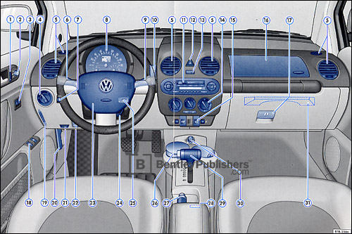 Volkswagen New Beetle 2005 instrument panel