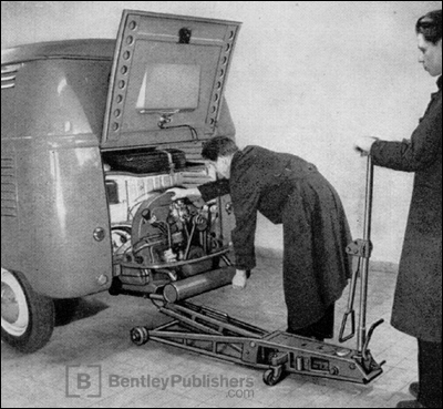 Engine Removal and Installation, Excerpted from Volkswagen Transporter Workshop Manual: 1950-1962, Section M, Engine and Clutch
