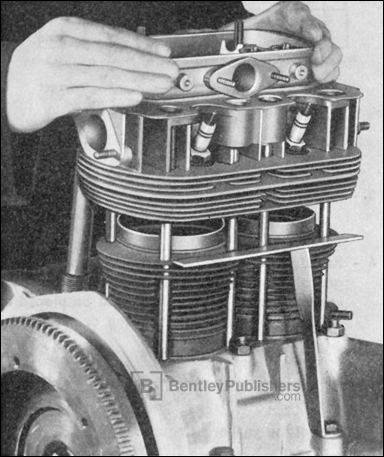 Removing and Installing Cylinder Head, Excerpted from Volkswagen Transporter Workshop Manual: 1950-1962, Section M, Engine and Clutch