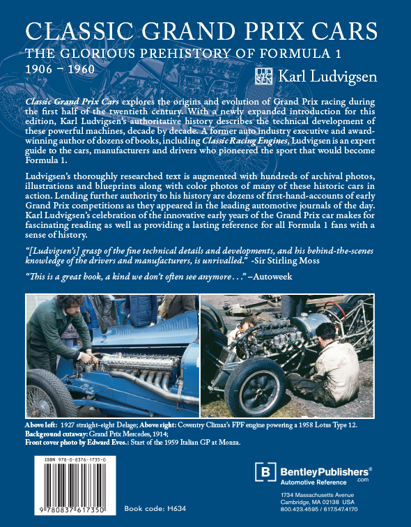 Classic Grand Prix Cars by Karl Ludvigsen back cover