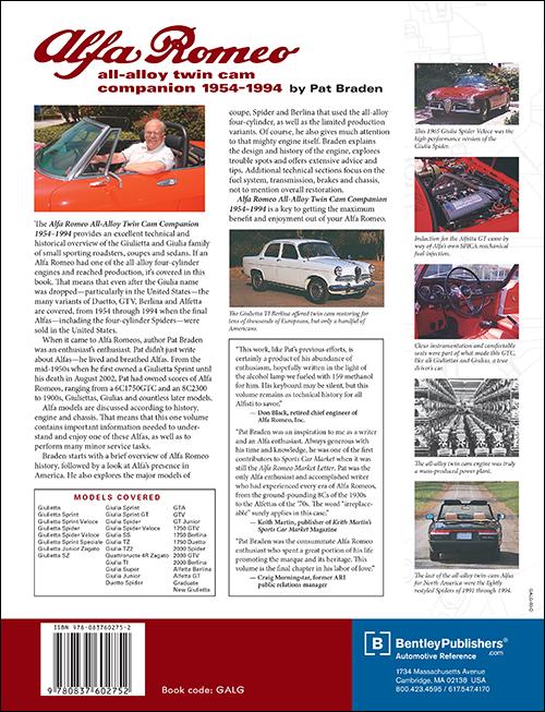 Back Cover Alfa Romeo Alfa Romeo All Alloy Twin Cam