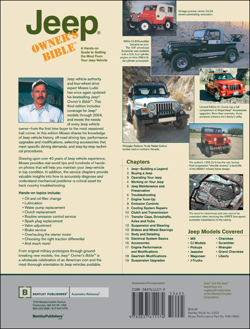 Jeep Owner's Bible? back cover