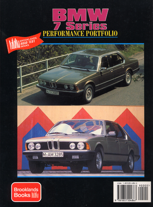 BMW 7 Performance Portfolio: 1977-1986? back cover
