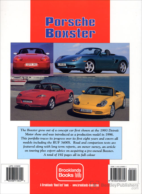 Porsche Boxster Ultimate Portfolio: 1996-2004 back cover