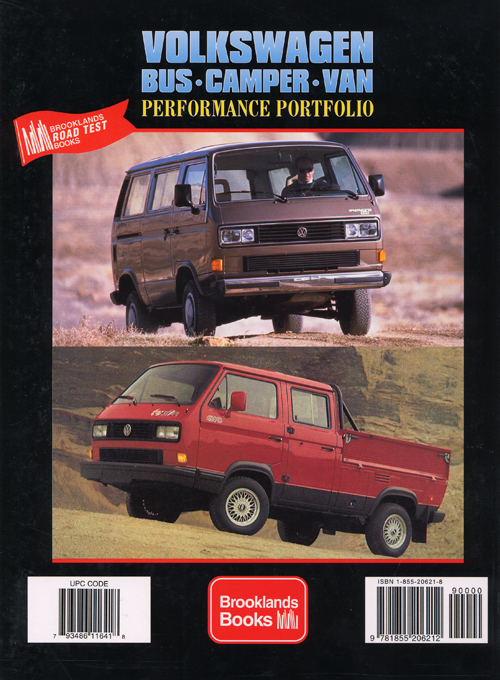 Volkswagen Bus, Camper, Van Performance Portfolio - 1979-1991? back cover