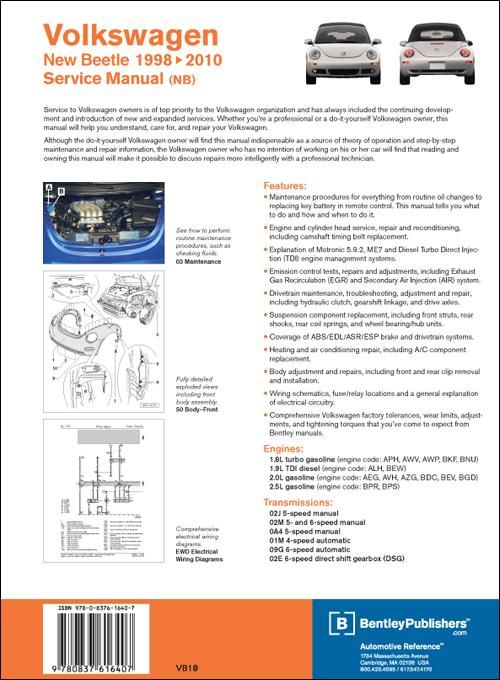Back Cover Vw Volkswagen New Beetle Service Manual border=