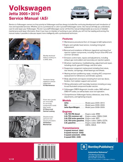 cover vw volkswagen repair manual jetta   bentley publishers repair