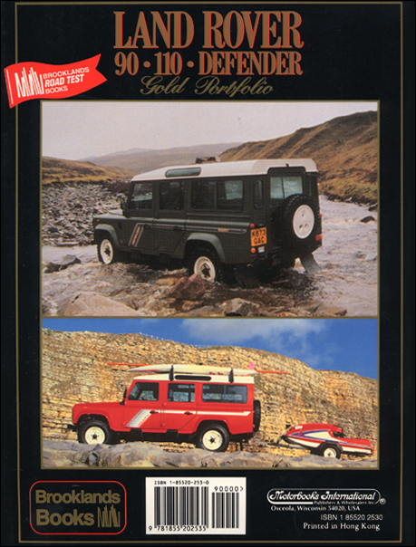 Range Rover Gold Portfolio: 1985-1995 ? back cover