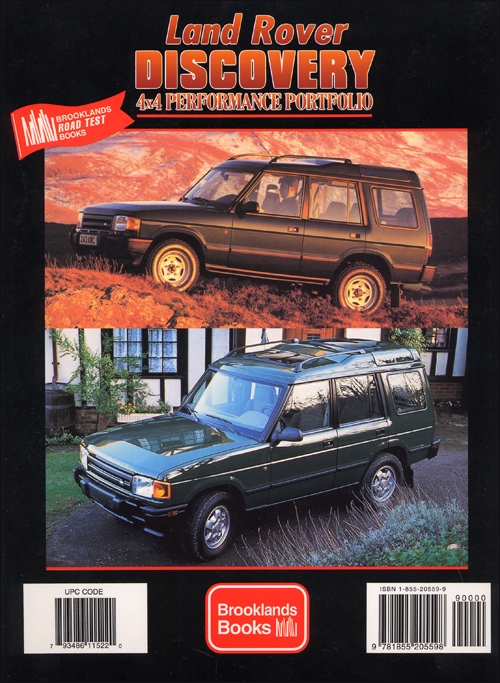 Land Rover Discovery 4x4 PerformancePortfolio: 1989-2000? back cover