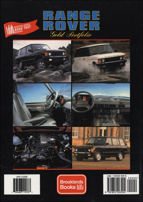 Range Rover Gold Portfolio: 1985-1995 back cover