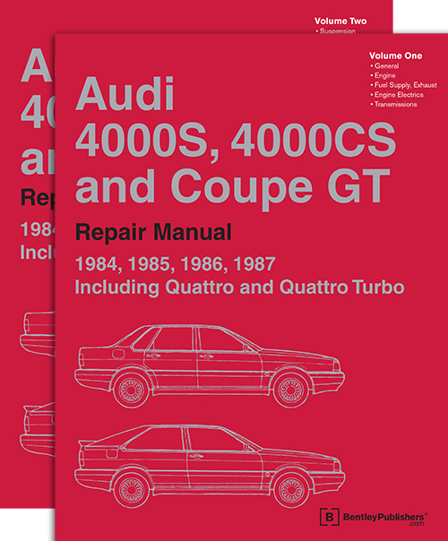 udi 4000S, 4000CS and Coupe GT: 1984-1987 Official Factory Repair Manual front cover