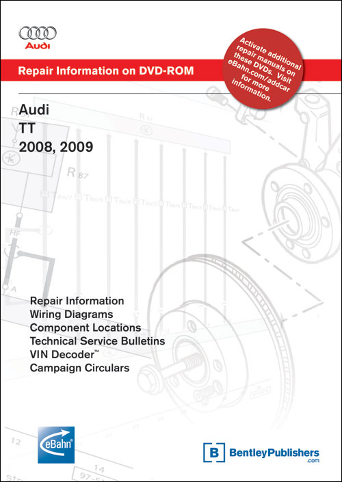 front cover audi tt 2008 2009 repair manual on dvd rom. Black Bedroom Furniture Sets. Home Design Ideas