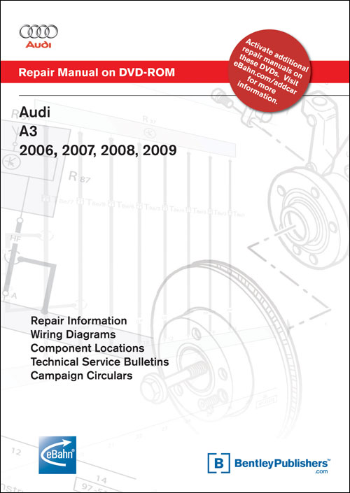 Audi A3: 2006-2007 Repair Manual on DVD-ROM front cover