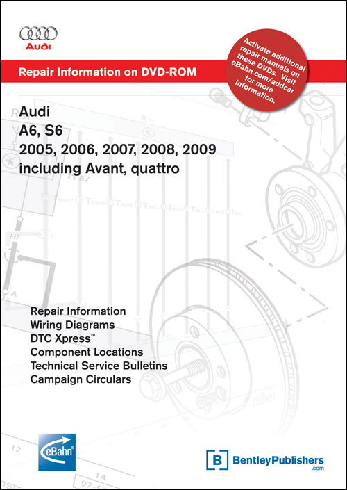 Audi A6: 2005-2006, A6 Avant: 2006 Repair Manual on CD-ROM front cover