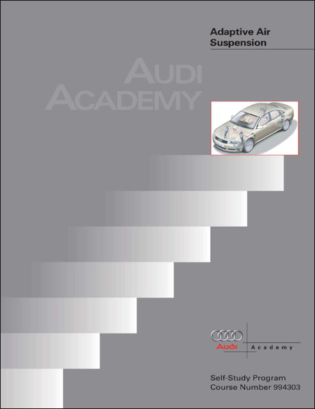Audi A8L Adaptive Air Suspension Technical Service Training Self-Study Program Front Cover