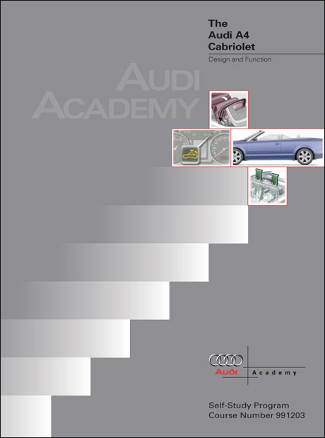 Audi A4 Cabriolet Design and Function Technical Service Training Self-Study Program Front Cover