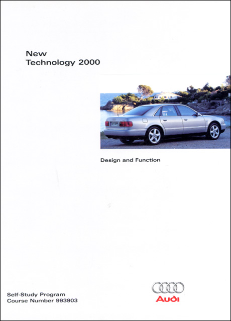 Audi New Technology 2000 Design and Function Technical Service Training Self-Study Program Front Cover