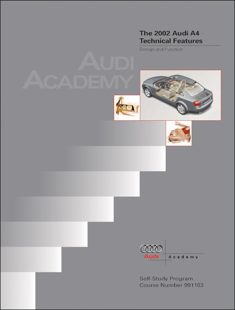 Audi A4 2002 Technical Features Design and Function Technical Service Training Self-Study Program Front Cover