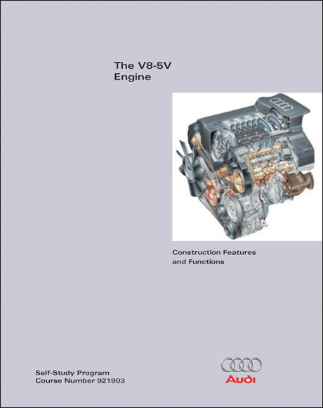 Audi V8-5V Engine Construction Features and Functions Technical Service Training Self-Study Program Front Cover