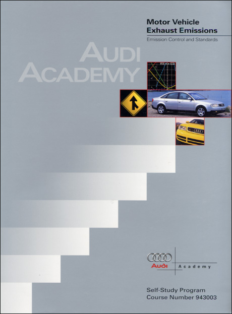 Audi Motor Vehicle Exhaust Emissions Emission Control Standards Technical Service Training Self-Study Program Front Cover