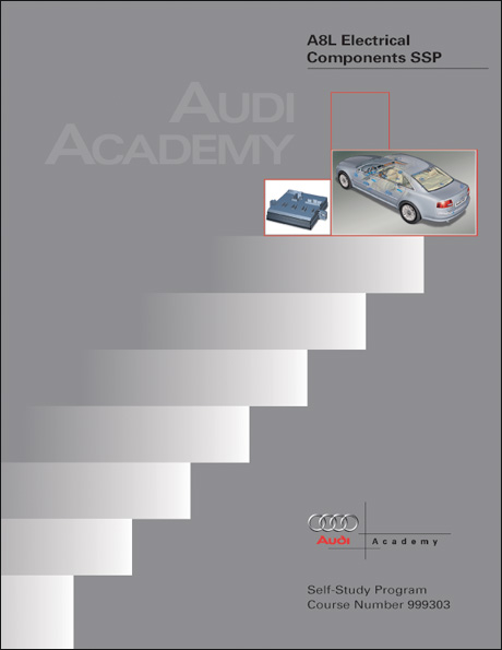 Audi A8L Electrical Components Technical Service Training Self-Study Program Front Cover