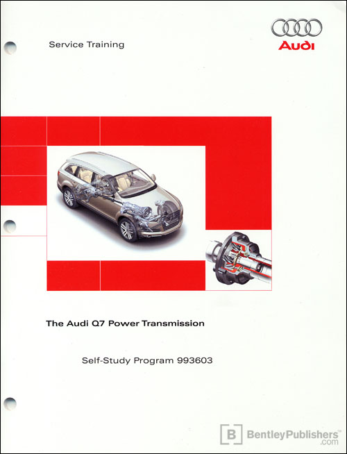 Front Cover The Audi Q7 Power Transmission Self Study