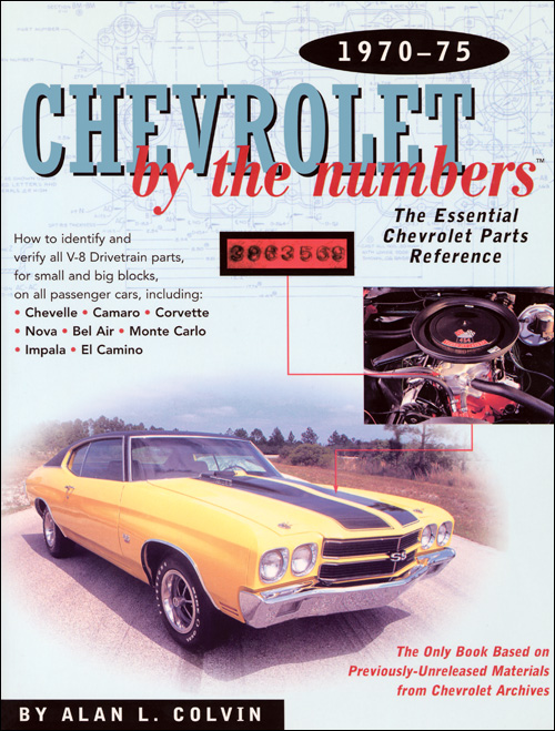 Chevrolet by the Numbers 1970-75 front cover
