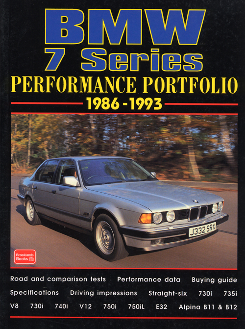 BMW Alpina Performance Portolio: 1988-1998 front cover