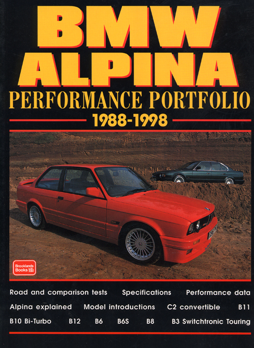 BMW Alpina Performance Portfolio: 1988-1998 front cover